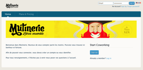 Mutinerie home page