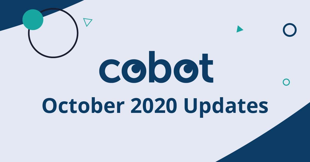 October 2020 Cobot Updates